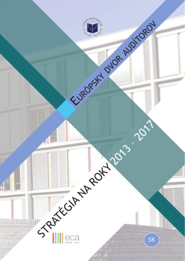 STRATÉGIA NA ROKY 2013 – 2017