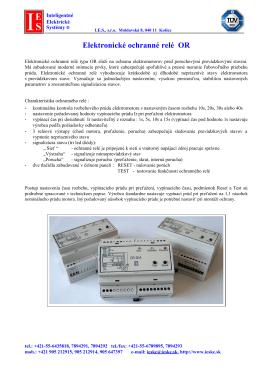 Elektronické ochranné relé OR