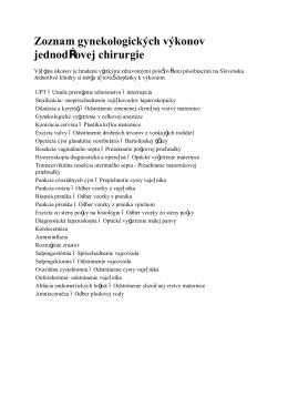 operácií hradených poisťovňami - femina-m.sk