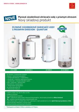 Plynové zásobníkové ohrievače vody