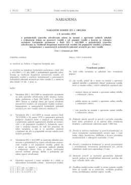 Nariadenie Komisie (EÚ) č. 1003/2010 z 8. novembra 2010 o