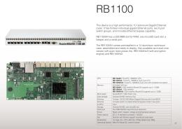 RB1100 - MikroTik