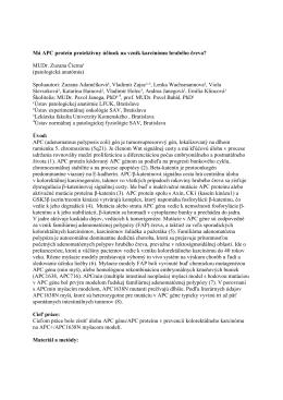 Má APC proteín protektívny účinok na vznik karcinómu