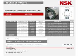 Informe de Produto NSK - FIP030
