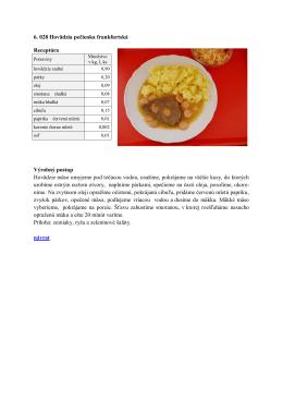6.028 Hovädzia pečienka frankfurtská
