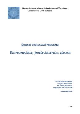ŠkVP 20122013 - Súkromná stredná odborná škola ekonomická