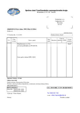 PDF text - Správa ciest Trenčianskeho samosprávneho kraja