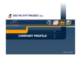 IDO HUTNY PROJEKT Company Presentation