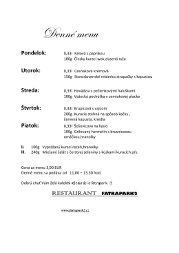 Jedal list menu