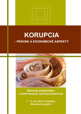 korupcia - právne a ekonomické aspekty