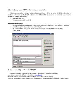 Tlač výkazov Súvaha, Výsledovka v tvare PDF