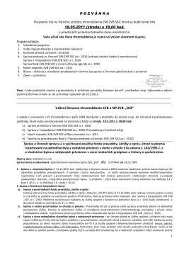 """Vážení členovia zhromaždenia SVB a NP ZVB ,,502"""""""