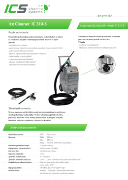 Ice Cleaner IC 310-S