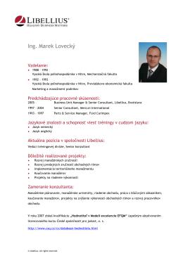 Ing. Marek Lovecký
