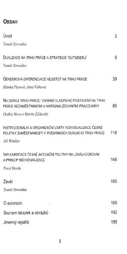 Nejistoty na trhu prace / T. Sirovatka, J. Winkler, M