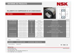 Informe de Produto NSK - FIP028