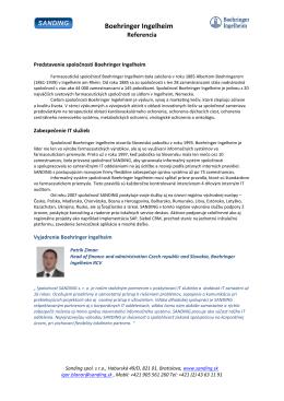 Boehringer Ingelheim - SANDING, spol. s ro
