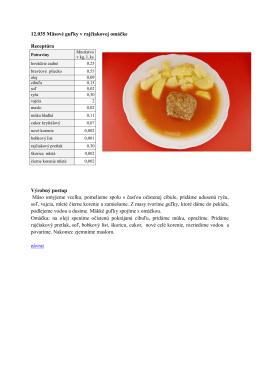 12.035 Mäsové guľky v rajčinovej omáčke