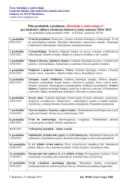 Dokument 1. - Slovenská zdravotnícka univerzita
