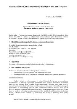 ORAVEC František, SHR, Hospodársky dvor Gyňov 193, 044 14