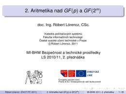 2. Aritmetika nad GF(p) a GF