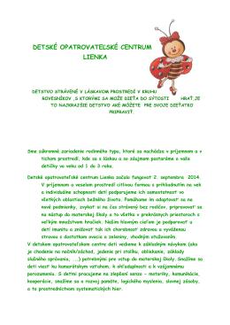 Detské opatrovateľské centrum Lienka