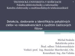 t - Katedra elektroniky a multimediálnych telekomunikácií