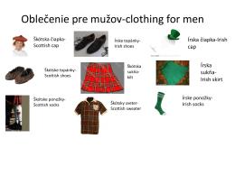 Oblečenie pre mužov