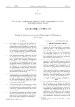 Mitteilung der Kommission zu den autonomen Zollaussetzungen
