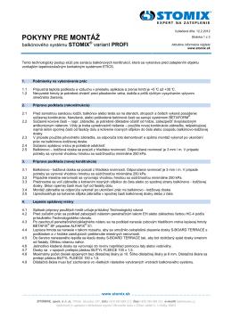 PPM_Balkonový program_SK 2012