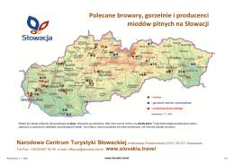 Polecane browary, gorzelnie i producenci miodów pitnych na Słowacji