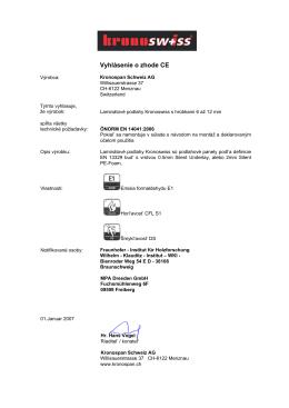 Vyhlásenie o zhode CE
