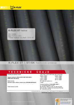 K-FLEX ST & ST/SK hadicová izolácia