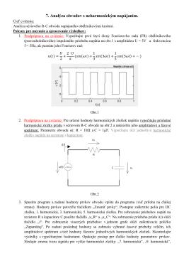 7. Analýza obvodov s neharmonickým napájaním.