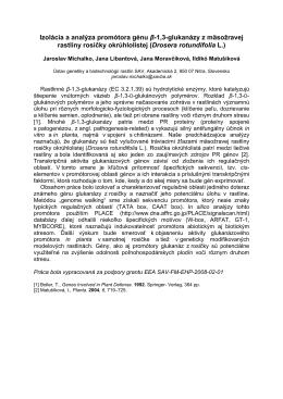 Izolácia a analýza promótora génu β-1,3-glukanázy z