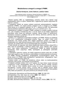 Metabolizmus omega-6 a omega-3 PNMK