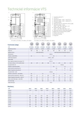 Technické informácie VTS