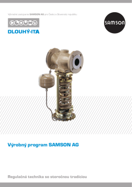 Výrobný program SAMSON AG