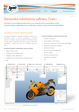 Slovenská lokalizácia softvéru CreoTM