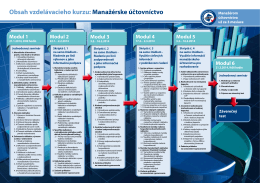 Obsah vzdelávacieho kurzu: Manažérske účtovníctvo