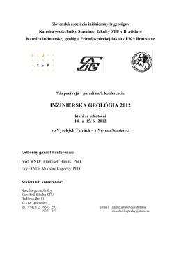 inžinierska geológia 2012