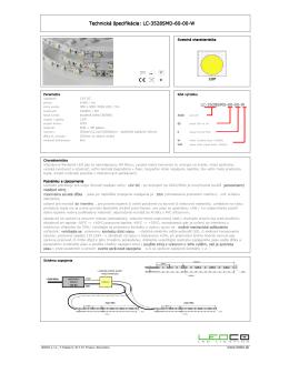 Technická špecifikácia: LC-3528SMD-60-00-W