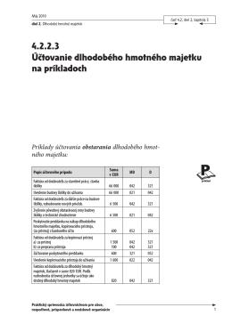 4.2.2.3 Účtovanie dlhodobého hmotného majetku na príkladoch