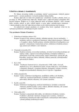 učiteľstvo akademických predmetov, odbor Chémia v aprobácii