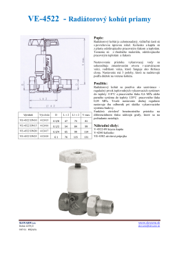VE-4522 - Radiátorový kohút priamy
