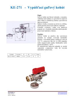 KE-271 - Vypúšťací guľový kohút - Topeni