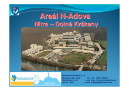 Areál N-ADOVA - Nitrianska investičná