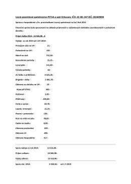 Finančná správa za rok 2014 od 01.07.2014