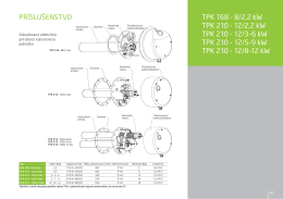 TPK 168 - 8/2,2 kW TPK 210