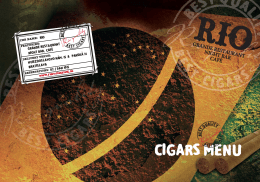 CIGARS MENU - Medusa Group